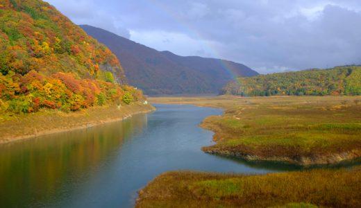 錦秋湖の紅葉情報2019。錦のように美しい紅葉は必見!見頃、混雑情報も。