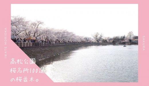 高松公園の桜情報2019。水面に映る桜並木が美しいお花見スポット