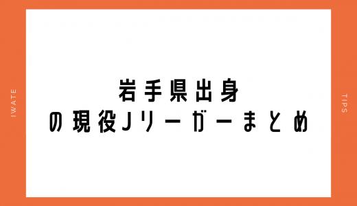 岩手県出身の現役Jリーガーまとめ|随時更新